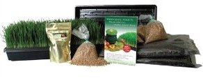 Omega 8006 organic wheatgrass growing kit